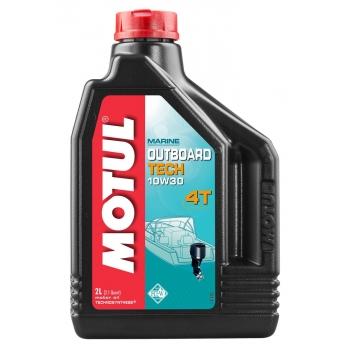Масло для 4-х тактных лодочных моторов Motul Outboard Tech 4T SAE 10W30 (2 л)