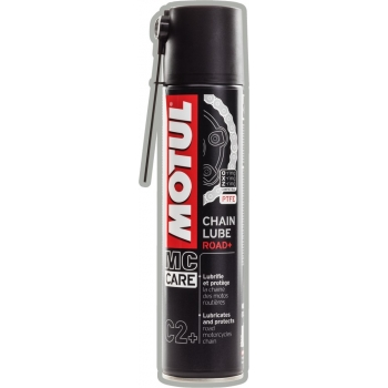 Белая смазка для цепи мотоциклов Motul C2+ Chain Lube Road + (400 мл)