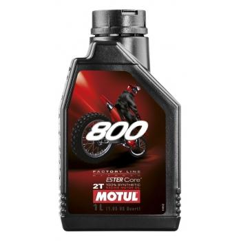 Масло для 2-тактных двигателей Motul 800 2T Factory Line Off Road (1 л)