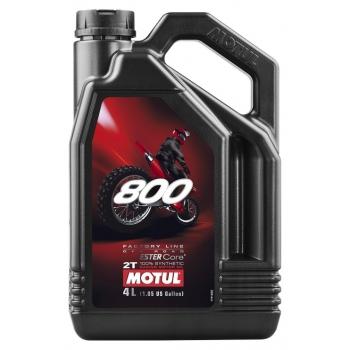 Масло для 2-тактных двигателей Motul 800 2T Factory Line Off Road (4 л)