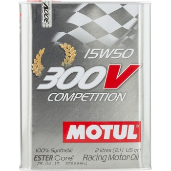 Спортивное моторное масло Motul 300V Competition 15W-50 (2 л)