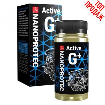 Присадка в масло Nanoprotec Active G+ Бензин/Газ от 50 тыс км пробега (0,1 л)
