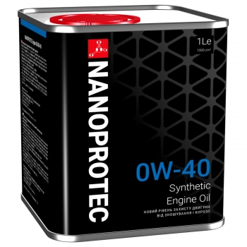 Синтетическое моторное масло Nanoprotec 0W-40 Engine Oil (1 л)