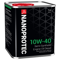 Полусинтетическое дизельное моторное масло Nanoprotec 10W-40 Diesel Engine Oil (1 л), 1693, Nanoprotec, Моторное масло