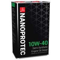 Полусинтетическое дизельное моторное масло Nanoprotec 10W-40 Diesel Engine Oil (4 л), 1694, Nanoprotec, Моторное масло