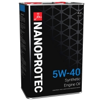Синтетическое моторное масло Nanoprotec 5W-40 Engine Oil (4 л), 1702, Nanoprotec, Моторное масло