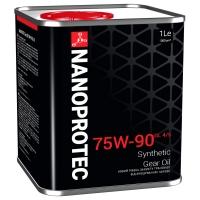 Масло трансмиссионное Nanoprotec 75W-90 GL-4/5 Gear Oil (1 л), 1710, Nanoprotec, Трансмиссионное масло