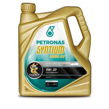 Синтетическое моторное масло Petronas Syntium 5000 AV 5W-30 (4 л)