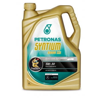 Синтетическое моторное масло Petronas Syntium 5000 XS 5W-30 (5 л)