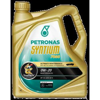 Синтетическое моторное масло Petronas Syntium 7000 0W-20 (4 л)