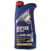 Масло моторное Mannol 10W-40 Diesel Extra (1 л), 1782, Mannol, Моторное масло
